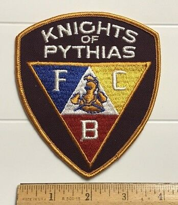 Knights of Pythias FCB Motto Crest Embroidered Badge Patch