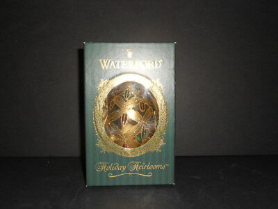 Waterford Holiday Heirlooms Pineapple Cut Egg Blown Glass Ornament NM Condition