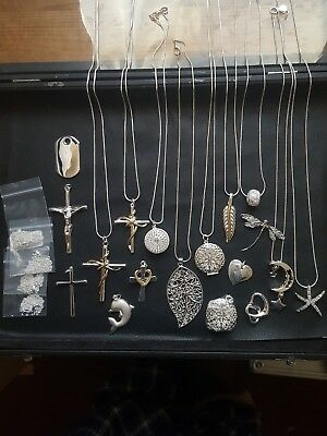 Joblot 925 Silver Necklaces x18 In Total
