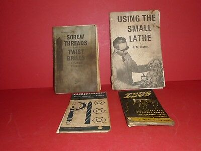 A job lot of engineering books, Including Using The Small Lathe by L. C. Mason.