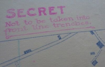 """Ww1 Secret Ypres Trench Map """"not To Be Taken Into Front Line Trenches"""""""
