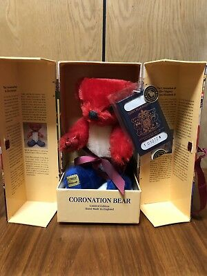 "8.75"" Merrythought Coronation Bear Queen's 40th Anniversary - NO RESERVE No 167"