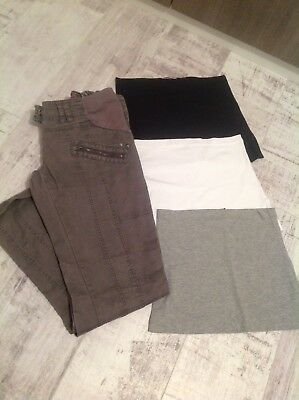 Next Maternity Jeans & New Look Maternity Baby Bump Top Extenders Pregnancy Band