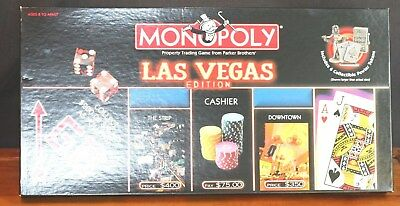 Monopoly Las Vegas Edition  Complete  Includes 6 Collectible Pewter Tokens