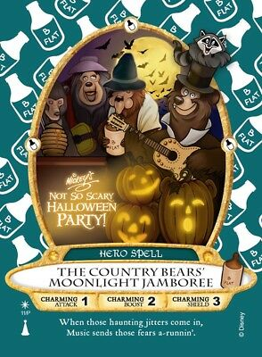 Sorcerers Of The Magic Kingdom Card Mickey's Halloween Party Country Bears 2017