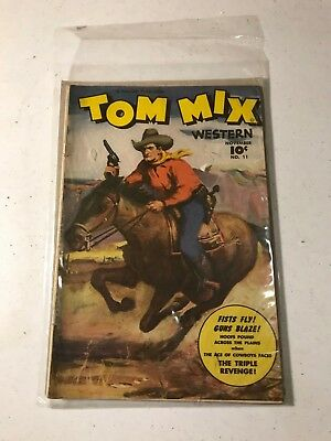 Tom Mix Western (Fawcett) #11 1948 Some wear from reading but good/intact