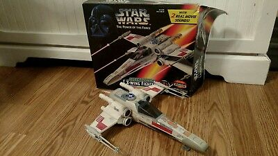 """1995 Star Wars """"Power of the Force"""" Electronic X-Wing Fighter"""