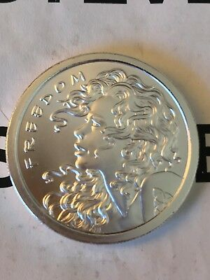 2013 Silver Bullet SILVER Shield 1 oz. FREEDOM GIRL BU 999 Fine round
