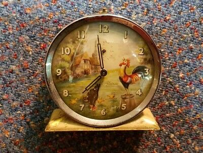 Rare Smith Alarm vintage antique clock farmyard cockerel parts spares repair