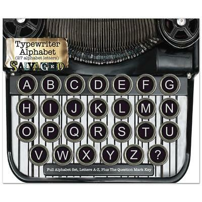 """SALVAGED COLLECTION by BCI Metal 'Antique Typewriter Keys' .625"""" Embellishments"""