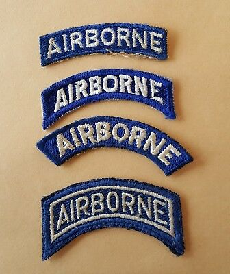 WWII Airborne Patch Tab Lot Variations