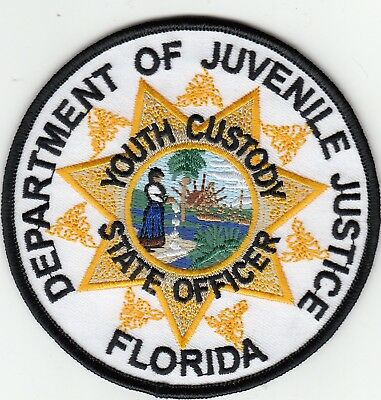 Florida Department Of Juvenile Justice Youth Custody Ofc Police Patch Florida Fl