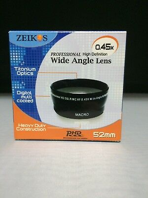 Zeikos 45x 52mm Pro High Def Wide Angle Lens / Limited Edition with Macro
