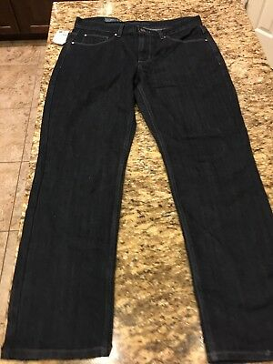 9a9fb91968 Perry Ellis Mens Dark Indigo Slim Low Rise Straight Leg 34 X 30 Jeans NWT