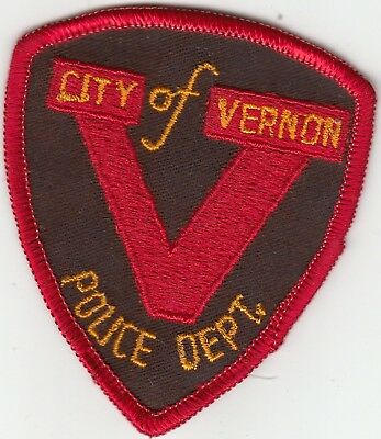 Older Vernon Police Department Patch Texas Tx Cc Backing