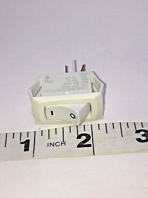 Appliance Rocker Switch White - On Off Whirlpool, Kenmore, GE, Frigidaire, LG