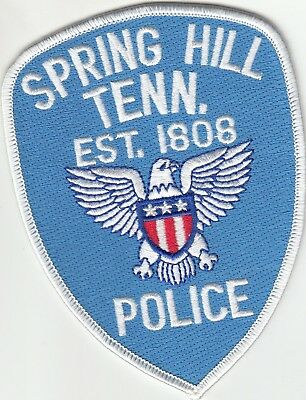 Spring Hill Police Patch Tennessee Tn