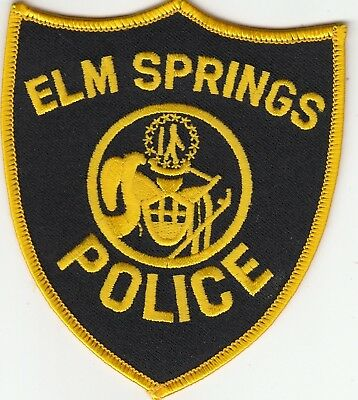 Elm Springs Arkansas Ar Police Patch