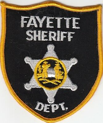 Fayette Sheriff Department West Virginia Wv Police Patch