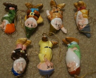 Disney Christmas ornaments, Snow White & the 7 Dwarves, porcelain