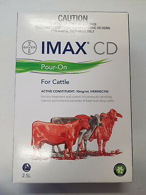 Bayer Imax CD Pour - On Cattle Drench 2.5L Ivermictin