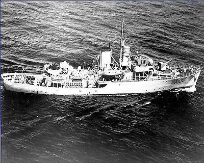 Royal Canadian Navy Corvette Hmcs Quesnel K133 With Stats And History Sheet