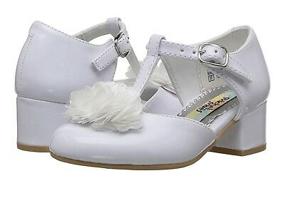 Toddler Size 6M Fits Like A 5 Rachel Shoes Little Elena White Patent Leather...