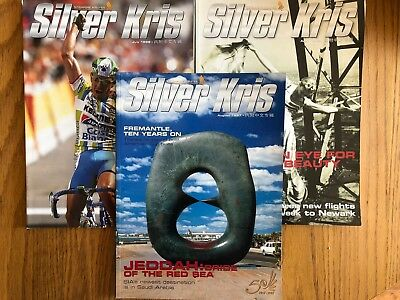 Lot of 3 Singapore Airlines inflight magazines, 1997-1998