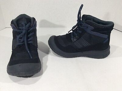 OSHKOSH BGOSH Toddler Boys Batillo Black Casual Boots Shoes Sz 12 T F5-392
