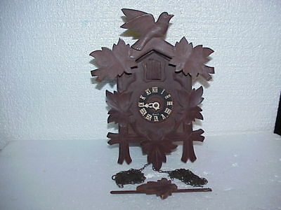 Vintage Cuckoo Clock Mfg Co 8 Day Regula 24 Cuckoo Clock parts repair E