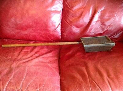 Primitive Antique Wood Handled Over The Fire Corn Popper