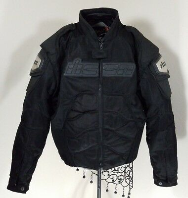 Icon Timax 2 Black Titanium Mesh Motorcycle Jacket Size XL Armored for Safety