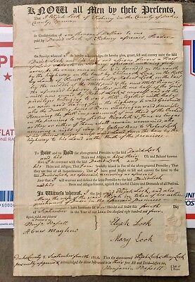 1805 Deed For 400 Acres Around The Mill Pond Dukes County Ma, Marthas Vineyard