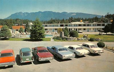 NORTH VANCOUVER, BC Canada  RANCH MOTOR LODGE Motel  ROADSIDE  Chrome Postcard