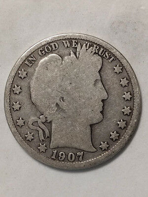 1907-O Barber Half Dollar - As Pictured