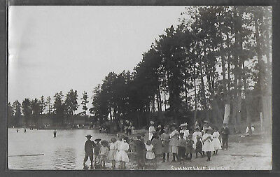 RPPC Summit Lake tourists & swimmers, Langlade Co. mailed 1907