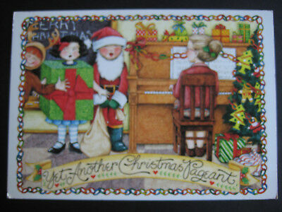 UNUSED 1991 vintage greeting card Mary Engelbreit CHRISTMAS Yet Another Pageant
