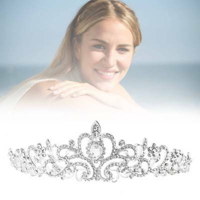 Bridal Wedding Crystal Princess Austrian Accessory Tiara Crown Veil Hair Silver