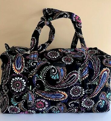 358edcc309 VERA BRADLEY SMALL Duffel Women Gym Shoulder Bag Travel bag Purse in ...