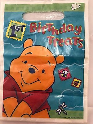 Disney, Winnie the Pooh, 8 Treat Bags with Handle, 1st Birthday
