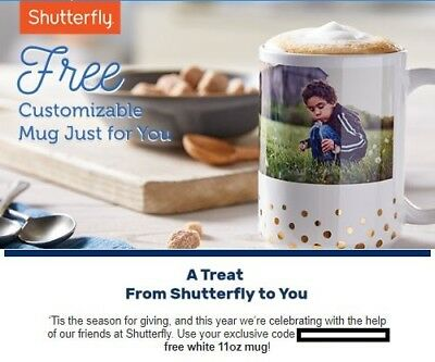 Shutterfly Customizable Mug Order Promotion Code      Exp   12/31