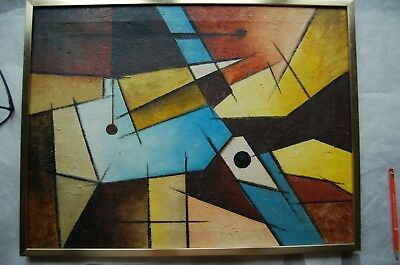 Original Raymond Parker Abstract Vintage Oil Painting - Signed - Well Listed