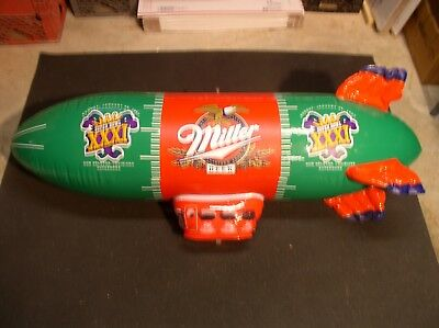 Miller Beer Blimp Inflatable Superbowl XXXI Sign