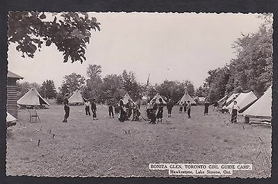 Circa 1950 Real Photo RPPC Postcard Bonita Glen HAWKESTONE LAKE SIMCOE Ontario