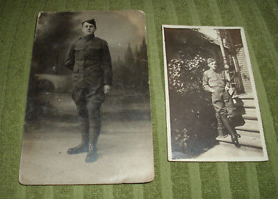 WW1 photos, Soldier in Military Service Photo & Postcard Photo.