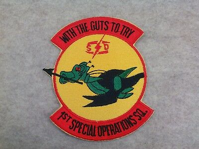 U.s.a.f....1St Special Operations Squadron. ( With The Guts To Try ), 80's,nice