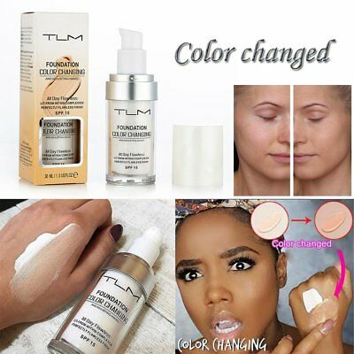 TLM Flawless Color Changing Foundation Makeup Base Nude Face Liquid Cover Concea