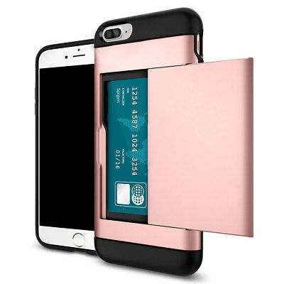 Rose Gold Wallet Credit Card Holder Shockproof Case Cover For Apple iPhone 6 6s