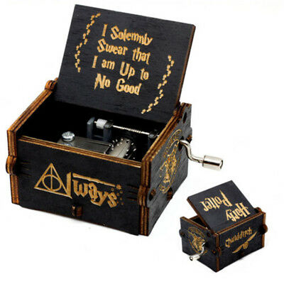 Harry Potter Music Box Wooden Hand Engraved Hedwing's Theme Toys Xmas Gift US