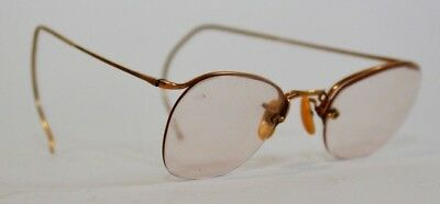 Antique American Optical AO 1/10 12K GF Gold Wire Eyeglasses Numont Ful-Vue 1930